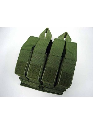 Flyye 1000D Molle Double M4 + Quad Pistol Mag Pouch OD