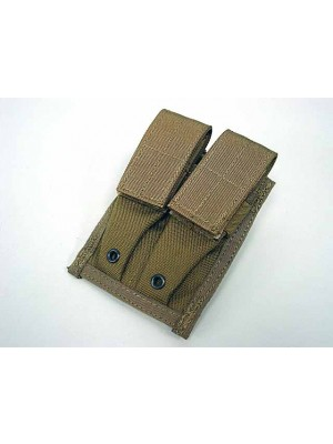 Flyye 1000D Molle Double 9mm Pistol Magazine Pouch Coyote Brown