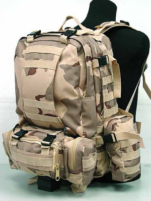 CamelPack Tactical Molle Assault Backpack Desert Camo