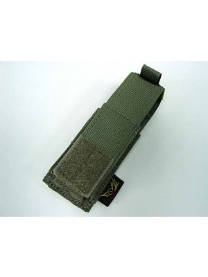 Flyye 1000D Molle Single .45 Pistol Magazine Pouch Ranger Green
