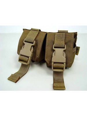 Flyye 1000D Molle Double Frag Grenade Pouch Coyote Brown