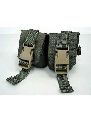 Flyye 1000D Molle Double Frag Grenade Pouch Ranger Green