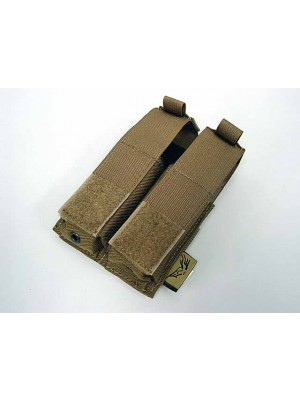 Flyye 1000D Molle Double .45 Pistol Magazine Pouch Coyote Brown