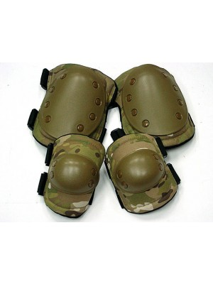 Tactical Knee & Elbow Pads Multi Camo