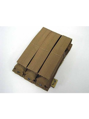 Flyye 1000D Molle Triple MP5 Magazine Pouch Coyote Brown