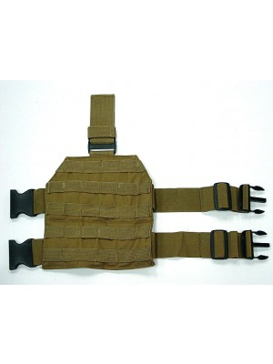 Airsoft Molle Drop Leg Panel Platform Coyote Brown