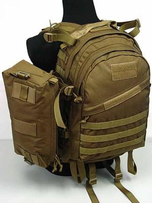 Flyye 1000D Molle AIII 3 Day Backpack w/Extra Pack Coyote Brown