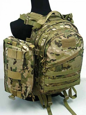 Flyye 1000D Molle AIII 3 Day Backpack w/Extra Pack Multicam