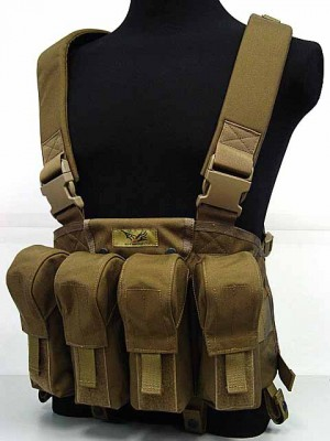 Flyye 1000D Tactical LBT AK Magazine Chest Rig Vest Coyote Brown