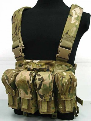 Flyye 1000D Tactical LBT AK Magazine Chest Rig Vest Multicam
