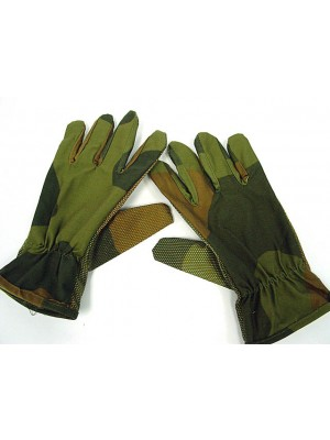 US Army Military Assault Non-slip Gloves Camo Woodland