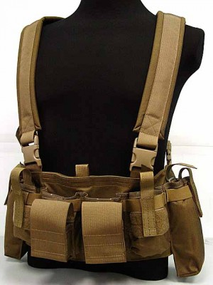 Flyye 1000D Tactical LBT M4 Magazine Chest Rig Vest Coyote Brown