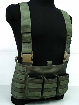 Flyye 1000D Molle LAW ENF Magazine Chest Rig Vest Ranger Green