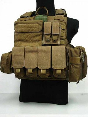 Flyye 1000D Molle Force Recon CIRAS Vest Ver. MAR Coyote Brown