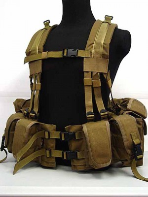 Flyye 1000D 1195J SEALs Floating Harness Chest Rig Coyote Brown