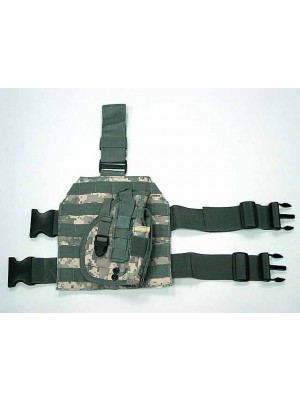 Molle Drop Leg Platform Panel w/Pistol Holster Digital ACU Camo