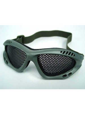 Airsoft Paintball No Fog Metal Mesh Goggle Glasses OD