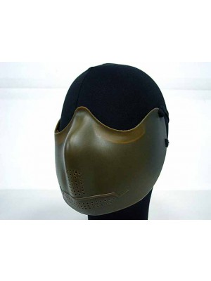 Airsoft X-Eye Half Face Mouth Protector Iron Mask OD