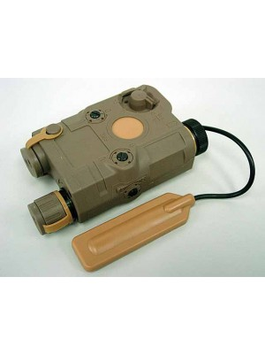 PRO&T AN/PEQ-15 Green Dot Laser & LED Flashlight Tan