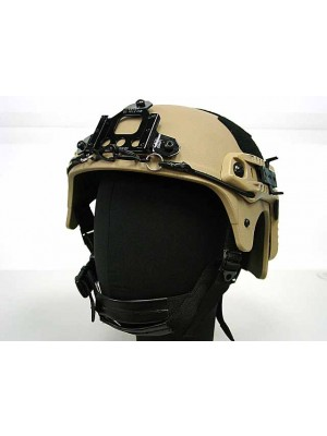 IBH Helmet with NVG Mount & Side Rail Tan