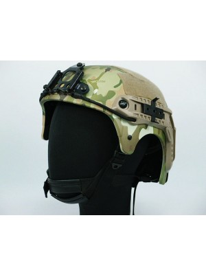 IBH Helmet with NVG Mount & Side Rail Multi Camo