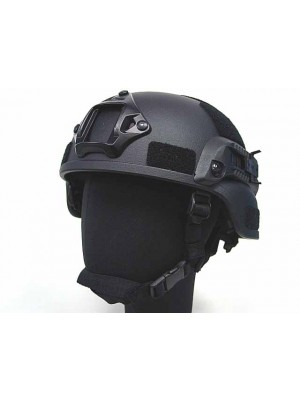 MICH TC-2000 ACH Helmet with NVG Mount & Side Rail Black