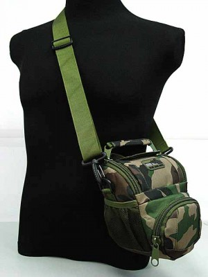 MID DSLR/SLR Camera Case Shoulder Bag Camo Woodland