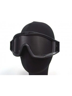 Airsoft No Fog Metal Mesh DL Style Goggle Black