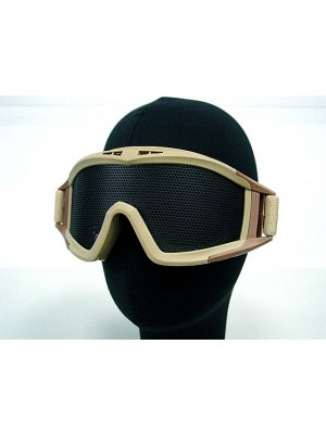 Airsoft No Fog Metal Mesh DL Style Goggle Tan