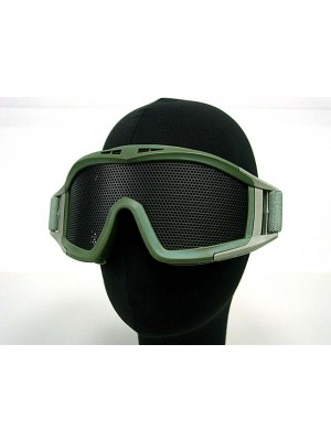 Airsoft No Fog Metal Mesh DL Style Goggle OD
