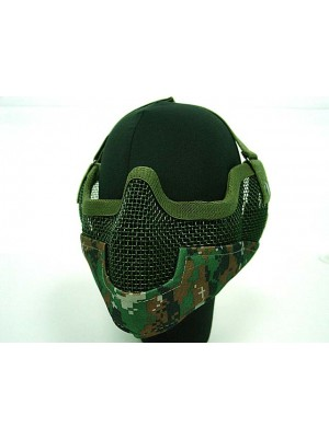 Stalker Type Half Face Metal Mesh Mask Ver. 2 Digital Woodland