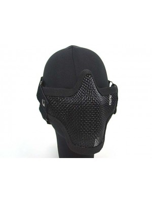Black Bear Airsoft Stalker Style Shadow Mesh Mask Black