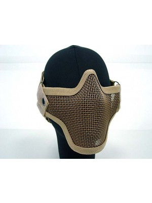 Black Bear Airsoft Stalker Style Shadow Mesh Mask Tan
