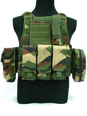 USMC MOD Molle Assault Plate Carrier Vest Camo Woodland