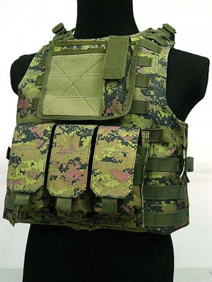 USMC Molle Combat Assault Plate Carrier Vest CADPAT Digital Camo