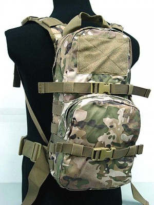 Tactical Utility Molle 3L Hydration Water Backpack Multi Camo