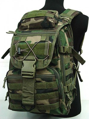 Molle Patrol Gear Assault Backpack Woodland Camo