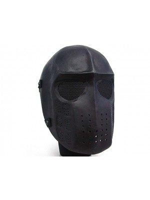 Full Face Ghost Recon Airsoft Mesh Goggle Mask Black
