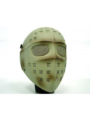 Full Face Hockey Type Airsoft Mesh Goggle Mask Tan