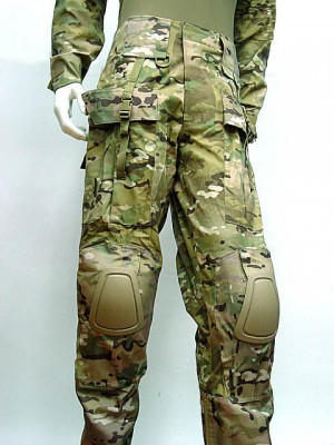 Tactical Combat Pants with Knee Pads Multi Camo