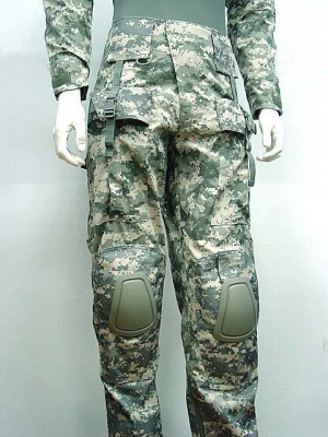 Tactical Combat Pants with Knee Pads Digital ACU Camo