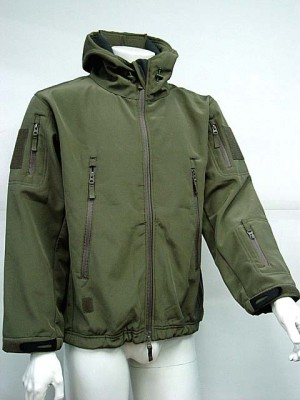 Stealth Hoodie Shark Skin Soft Shell Waterproof Jacket OD
