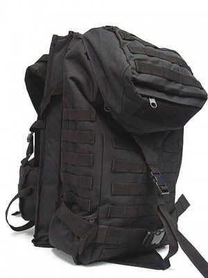 Tactical Molle Rifle Gear Combo Backpack Black