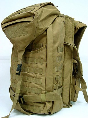Tactical Molle Rifle Gear Combo Backpack Coyote Brown
