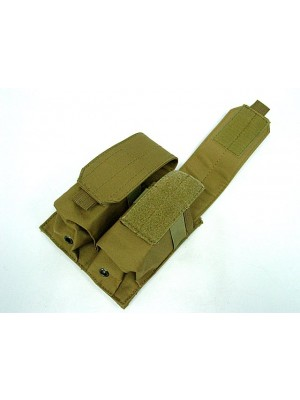 Airsoft Molle Double Magazine Pouch Coyote Brown