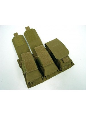 Airsoft Molle Triple Magazine Pouch Coyote Brown