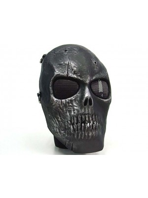 Army of Two Skull Full Face Airsoft Protector Mask Silver Black