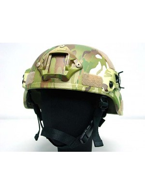 MICH TC-2000 ACH Helmet with NVG Mount & Side Rail Multi Camo