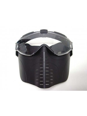 Pro-Goggle Full Face Mask with Fan Ventilation Black