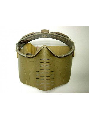 Pro-Goggle Full Face Mask with Fan Ventilation Tan